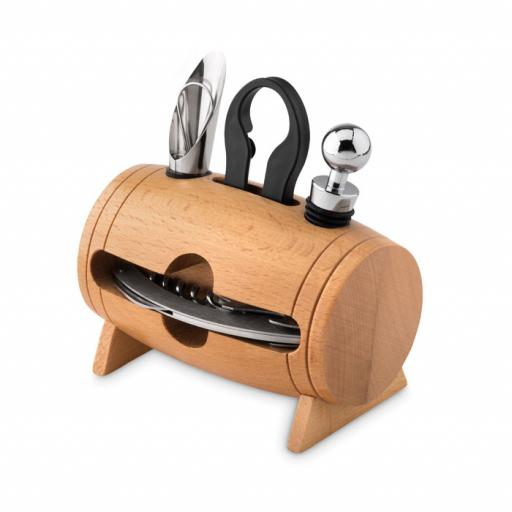 BOTA 4 pcs wine set in wooden stand