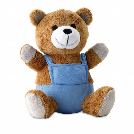 NICO Bear plush w/ advertising pants
