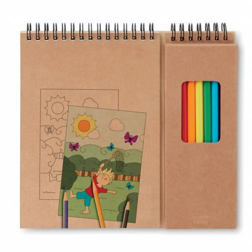 COLOPAD Colouring set with notepad