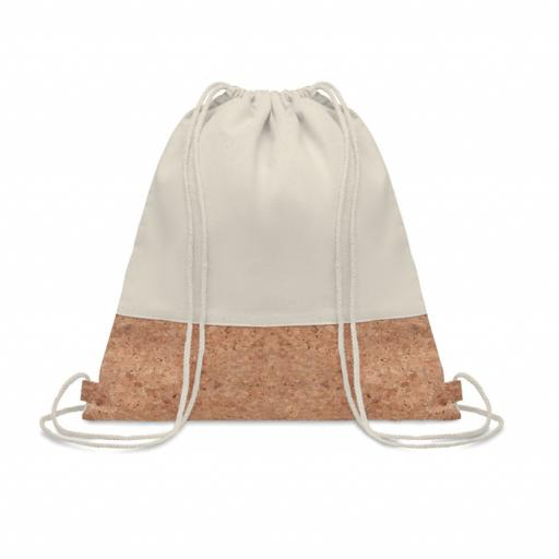 ILLA Drawstring bag w/ cork details