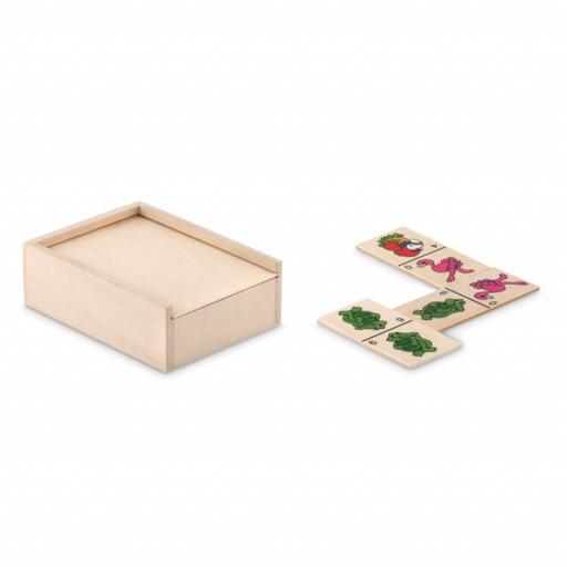 ANIMALS Kids domino set in wooden box