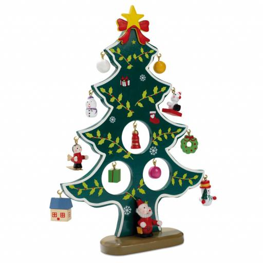 WOODTREE Wooden xmas tree decoration