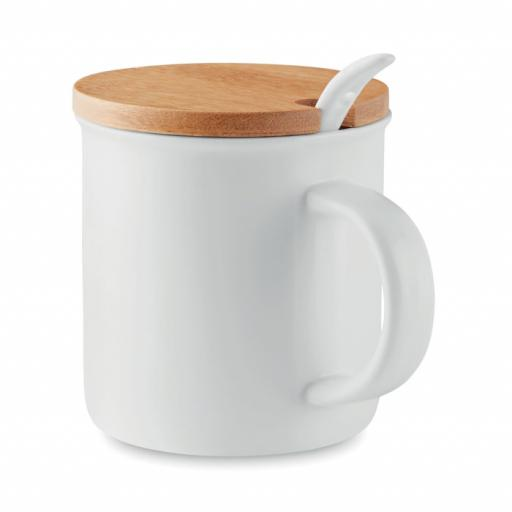 KENYA Porcelain mug with spoon