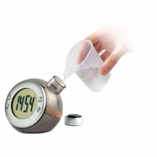DROPPY Water powered LCD desk clock