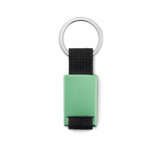 TECH BLACK Metal rectangular key ring