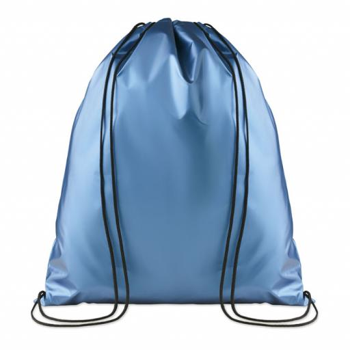 NEW YORK Drawstring bag shiny coating