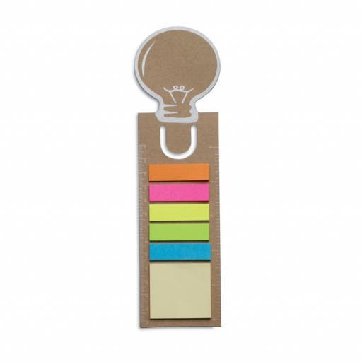 IDEA Bookmark with memo stickers