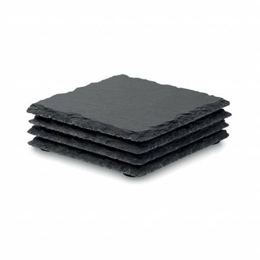 SLATE4 Slate coasters with EVA bottom