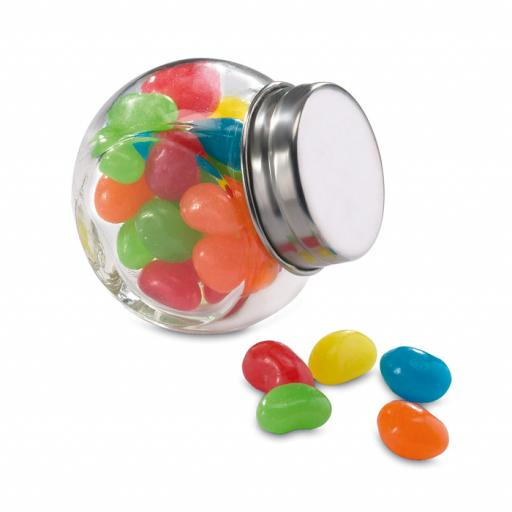 BEANDY Glass jar with jelly beans