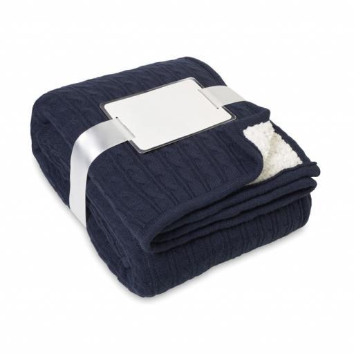 CHAMONIX Blanket, cable acrylic/sherpa
