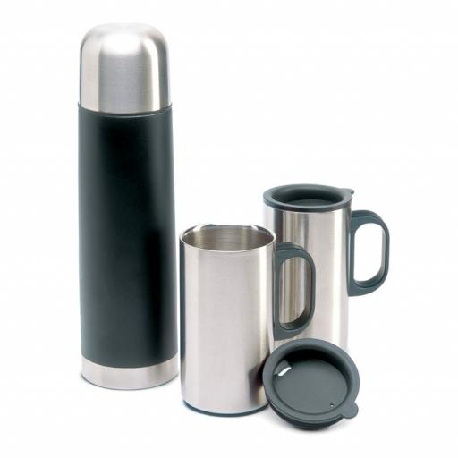 ISOSET Insulation flask with 2 mugs