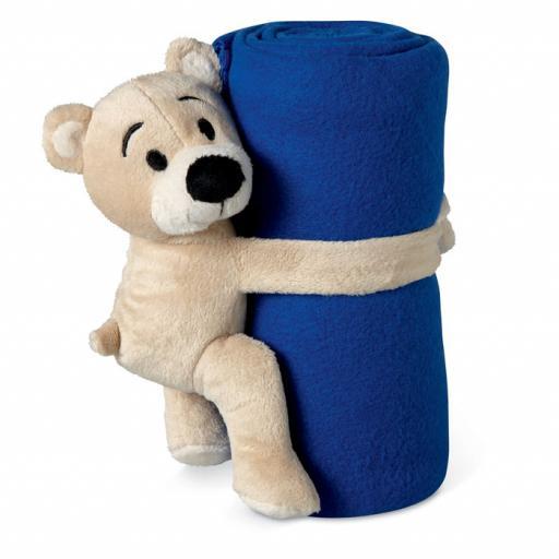 MANTA Fleece blanket with bear