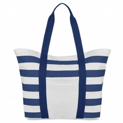 BLINKY STRIPES Beach bag striped