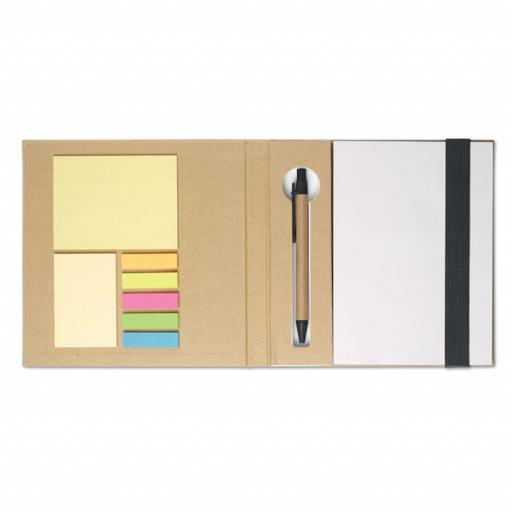 QUINCY Notebook w/ stickynotes & pen