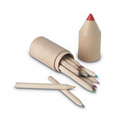 COLORET 12 pencils in wooden box
