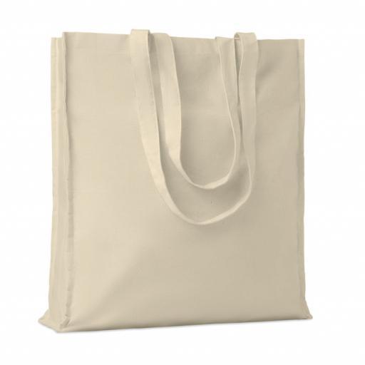 PORTOBELLO Cotton shopping bag w/ gussets
