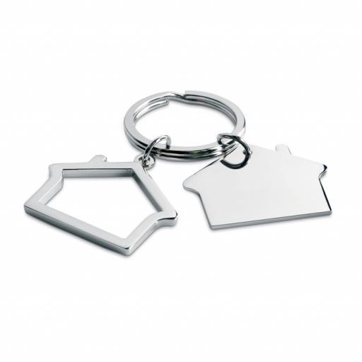 SNIPER Metal key ring house shape
