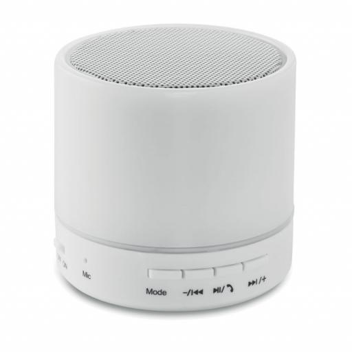 ROUND WHITE Round Bluetooth speaker LED