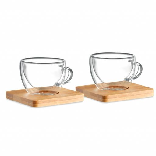 BELIZE Set of 2 double wall espresso