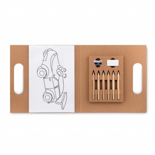 FOLDER2 GO Colouring set with 6 pencils