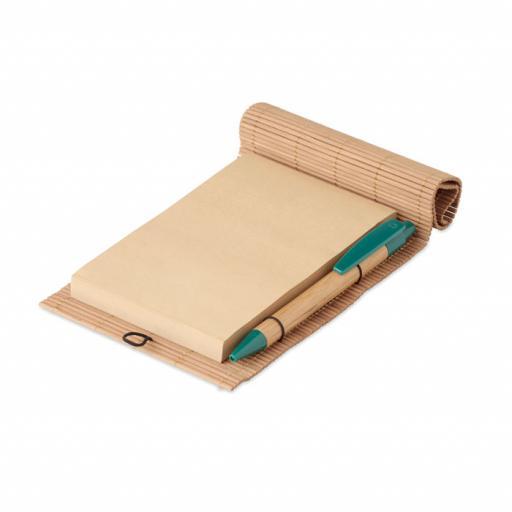 CORTINA NOTE Bamboo 80 sheet notebook & pen