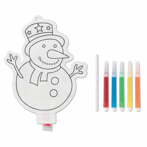 SNOWBALL Snowman colouring balloon
