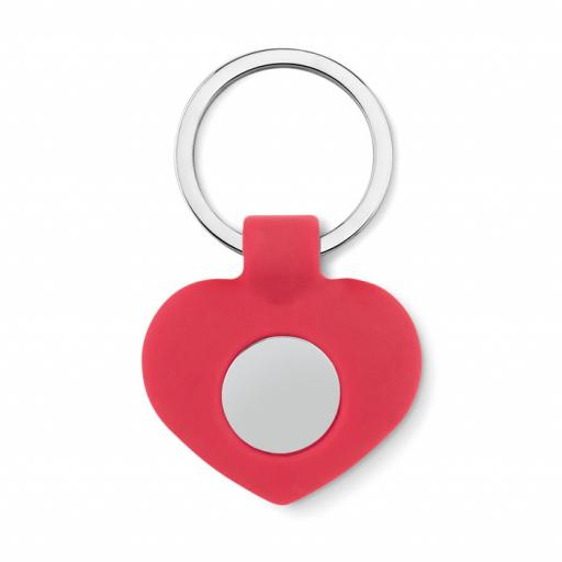 CUORE Silicone key ring with token