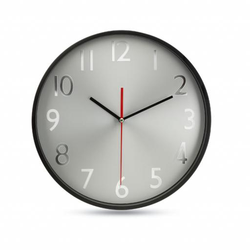 RONDO Wall clock w silver background