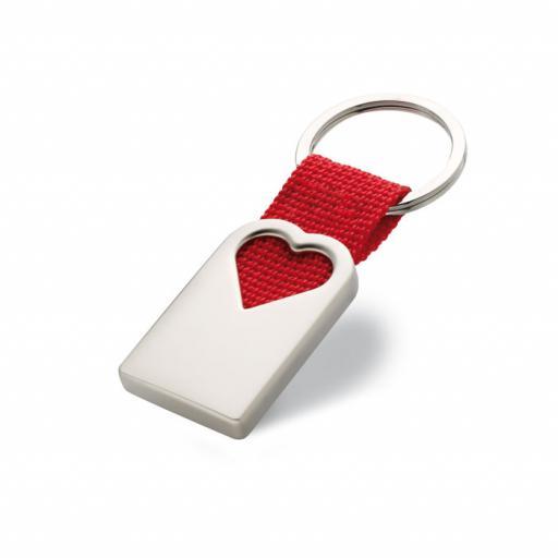 BONHEUR Heart metal key ring