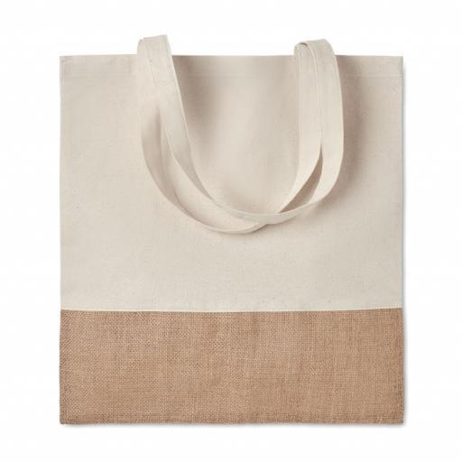 INDIA TOTE Shopping bag w/ jute details