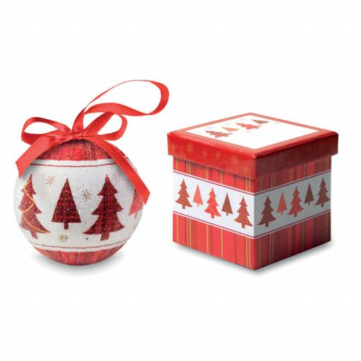 SNOWY Christmas bauble in gift box