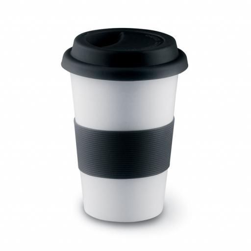 TRIBECA Ceramic mug w/ lid and sleeve