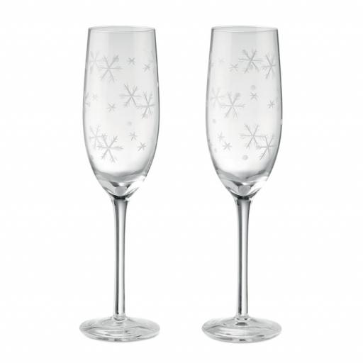 CHEERS Set of 2 champagne glasses