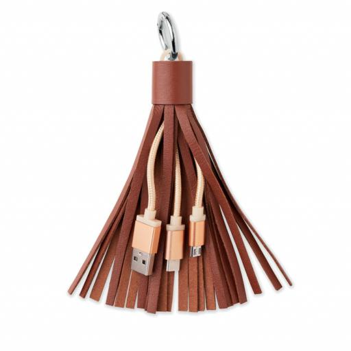 TASSEL Keyring with USB type C cable