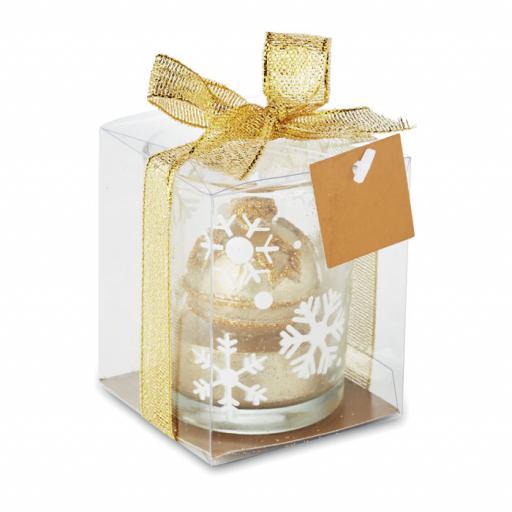 GLITTERIE Glass candleholder