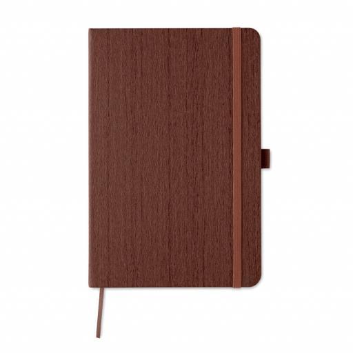 WOODY A5 notebook in PU with penloop