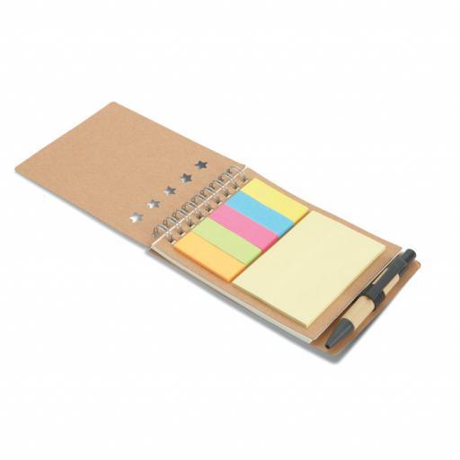 MULTIBOOK Notebook with pen sticky notes