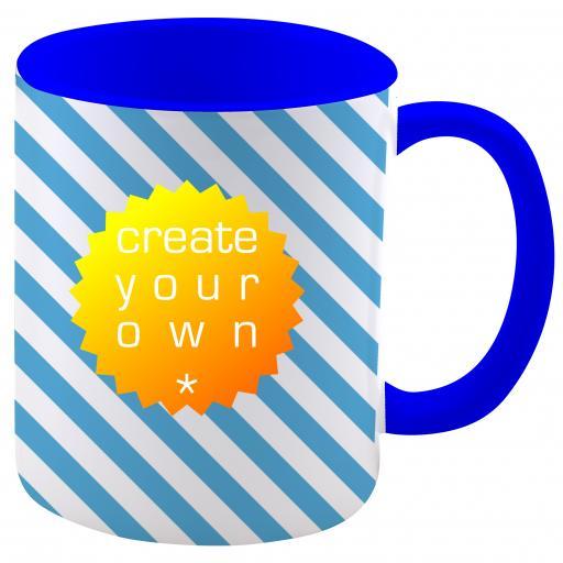 11oz Ceramic Mug Two Tone Blue