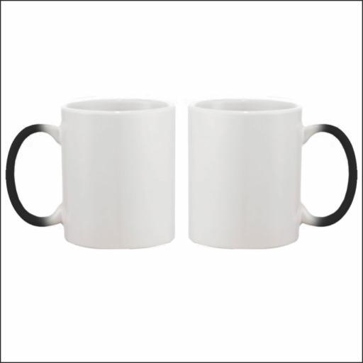 His & Her Mug - Colour Change Black - Ceramic - 10oz