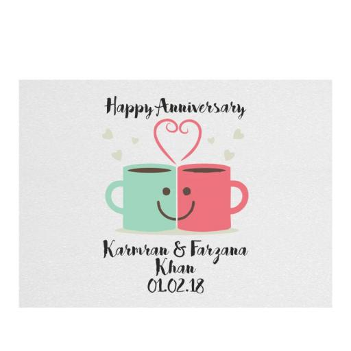 Happy Anniversary – Mug Love - Chopping Board - Rectangle 20 x 28cm