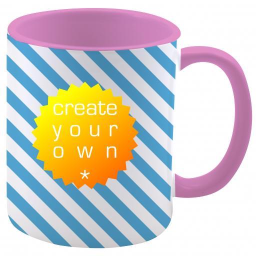 11oz Ceramic Mug Two Tone Pink