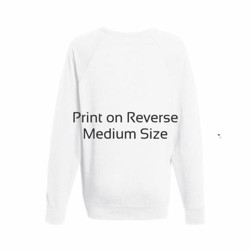 White Lightweight Jumper - Medium - Printed Reverse