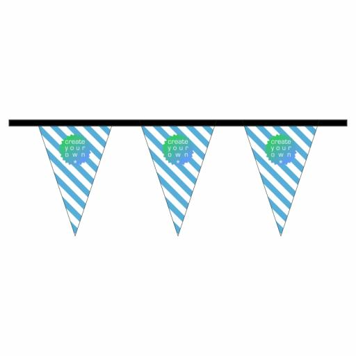Bunting - Triangle - 10 metre length - 18 textile pennants per length - 115g knitted polyester