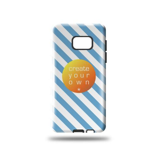 Phone Case - Tough Case - Plastic Outer Case with black rubber insert - Samsung S7 Edge