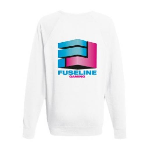 White Lightweight Jumper - Extra Large - Printed Reverse