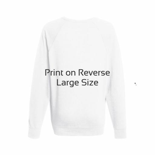 White Lightweight Jumper - Large - Printed Reverse