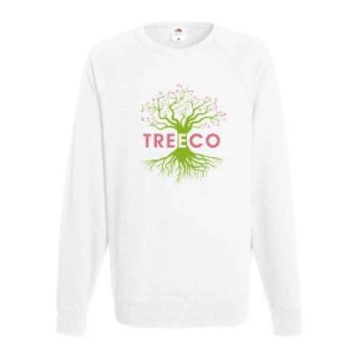 White Lightweight Jumper - Extra Large - Printed Front