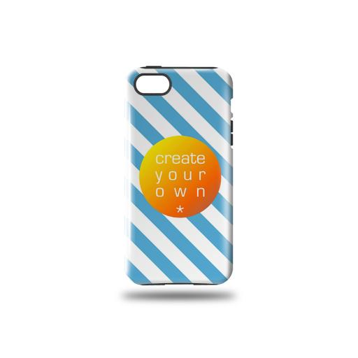 Phone Case - Tough Case - Plastic Outer Case with black rubber insert - Iphone 5/5s
