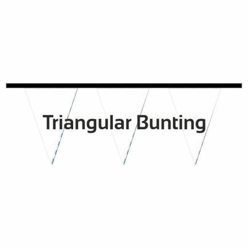Bunting Triangle 10 metre length 18 textile pennants per length - 115g knitted polyester