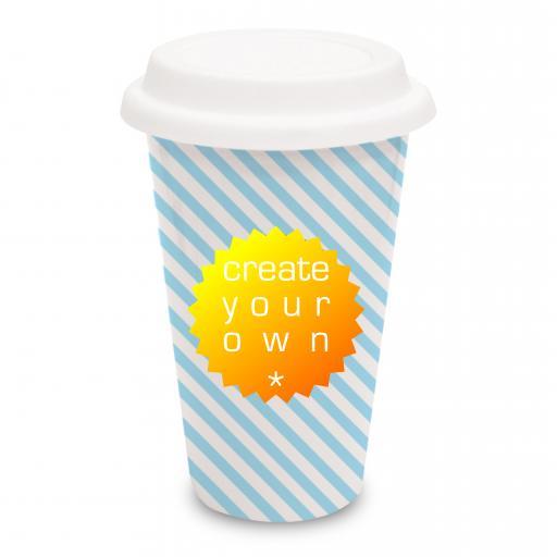 Mug - White - Travel - Ceramic - 285ml
